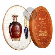 Depaz - Rhum hors d'âge - Cuvée Prestige - Boîte en merisier - Sable noir de la Montagne Pelée - 70c