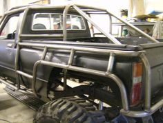 Cutsom Rock Crawler Created By FLEX POINT OFF ROAD, located in Redding CA (530) 244-7709 ...a custom roll cage created around a Toyota body exo skeleton cage #SkeletonKrew