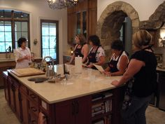 This is one of La Tavolo's first cooking class.  Mary Jo explains how it is done.