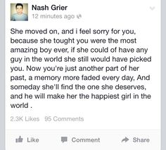 <3 I'm loving u more each minute ,Nash and it hurts. My chest is seriously aching right now.