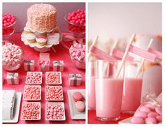 Need some inspiration for your Valentine's Day party dessert table? Check out this latest dessert bar creation by Amy Atlas. Valentine Desserts, Pink Desserts, Valentines Day Treats, Happy Valentines Day, Diy Valentine, Kids Valentines, Dessert Bars, Dessert Table, Valentinstag Party