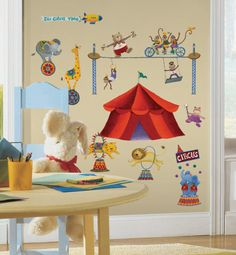 Big Top Circus Removable Wall Decal Stickers