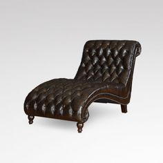 Signal hills bellagio classic tufted chaise lounge with for Bellagio leather chaise