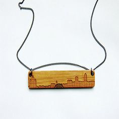Des Moines Skyline Necklace by Maple + Mauve at Domestica
