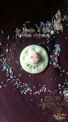 #Imán #galleta con #bebé #souvenir en #porcelana fría