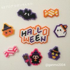 Halloween perler beads                                                                                                                                                     More