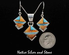 Handmade Navajo Native American Pendant by Cathy Webster