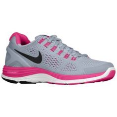 Nike LunarGlide + 4 - Womens - Wolf Grey/Pink Force/Pearl Pink/Anthracite - Lady Foot Locker - $109.99