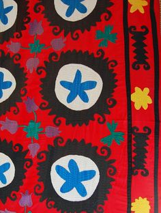 embroidered mexican coverlets
