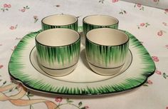 T.G.Green 'Grassmere' Egg Cup Set with associated base plate