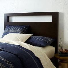 Superieur TALL WOOD CUTOUT HEADBOARD   CHOCOLATE | Great For Phone Charging And  Putting Random Things