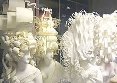 French Paper Wigs for Tiffany & Co