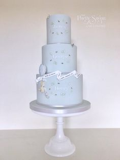 Pooh and piglet grand adventure 3 tier christening cake for triplets Baby Christening Cakes, Christening Themes, Pretty Cakes, Beautiful Cakes, Winnie The Pooh Cake, Luxury Cake, Fondant Baby, Sugar Cake, Different Cakes