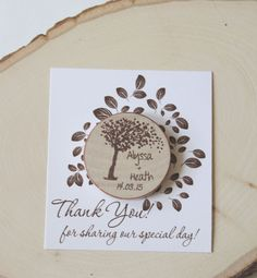 Cherry blossom Rustic Wedding Favor Wood Magnets- save the date or rustic wedding favor-blossom tree nature theme