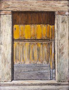 Pilar S. Robles. Puerta castellana. Pastel. 76x61