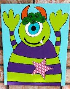 Monster Nursery Art Monster Canvas Children's par WallCandybyJackie
