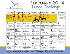 Lunge Challenge for February 2014 - February is right around the corner, Next up I challenge you to do a pile of Lunges. Are you Ready?