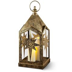 "Improvements Bethlehem Star LED Christmas Lantern-22"" - Gold ($30) ❤ liked on Polyvore featuring home, home decor, holiday decorations, christmas, christmas candle holder, christmas decor, christmas home decor, christmas lighting, gold and indoor christmas decor"