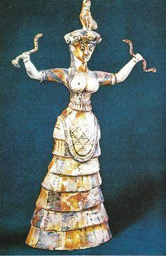 Deusa cobras do palacio de Cnossos c. 1600 AC