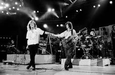 Led Zeppelin reunion at the 40th anniversary of Atlantic Records. Madison Square Garden, May 14, 1988, New York.