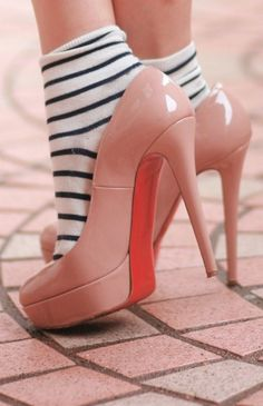 blush and stripes in street style
