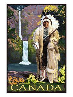 Vintage Travel Poster- Canada