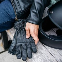 The Unisex Work Glove is Biltwell's most versatile and rugged all-leather glove, and boasts features & style bike riders of every stripe can recognize and appreciate. Motorcycle Riding Gear, Bike Rider, Work Gloves, Mens Gloves, Unisex, Leather, Black, Style, Fashion