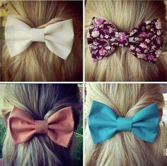 Cute hair bows that I want .....