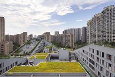 Image 1 of 14 from gallery of Hangzhou Duolan Commercial Complex / BAU Brearley Architects + Urbanists. Photograph by Shu He Industrial Architecture, Facade Architecture, Amazing Architecture, Landscape Architecture, Hangzhou, Terrace Building, Green Building, Commercial Complex, Residential Complex