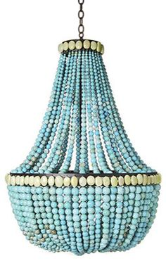 Marjorie Skouras Turquoise Chandelier - might be a tad too turq for my dining rm (maybe bkfst table)