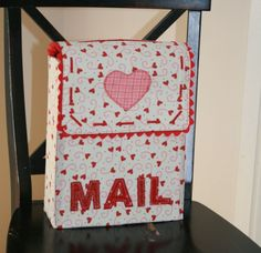 This darling Valentine mailbox chairbacker is similar to the Pottery Barn design from a few years ago, but it is cuter! Bag is perfect for a gift that