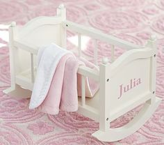 Let your kids be mamas to their baby dolls with Pottery Barn Kids' baby doll accessories and clothes. Shop doll strollers, high chairs, clothes and more perfect for play time. Baby Doll Crib, Baby Dolls, Doll Bunk Beds, Playroom Furniture, Baby Doll Furniture, Furniture Vintage, Barbie Furniture, Dollhouse Furniture, Baby Doll Accessories