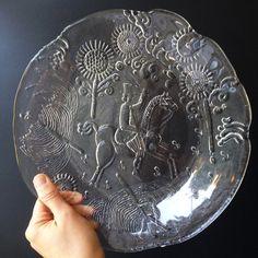 Kjell Engman Plate for Kosta Boda Swedish Glass by Phrantique