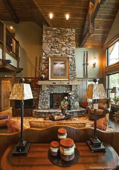 stone fire places | ... Fireplace31 30 Ideas Beautiful Interior Design With Stone Fireplace