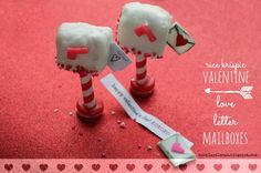 hoopla palooza: rice krispie valentine love letter mailboxes