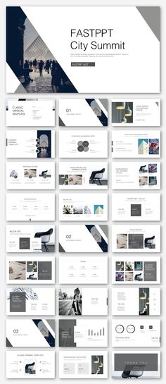 Black & White Business Presentation Template – Original and high quality PowerPoint Templates downlo Portfolio Design Layouts, Page Layout Design, Layout Cv, Template Portfolio, Web Portfolio, Design Presentation, Business Presentation Templates, Corporate Presentation, Slideshow Presentation