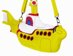 The Yellow Submarine Bag by krukrustudio on Etsy, $185.00