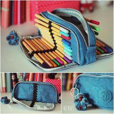 Make your own DIY pencil pouch or pencil case! Pencil Bags, Pencil Pouch, Diy Pencil Case, Best Pencil Case, Tumblr Pencil Case, Pencil Case Pattern, Large Pencil Case, Diy Sac, School Organization