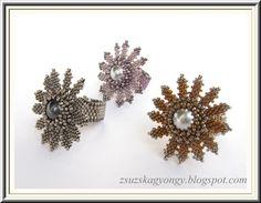 Zsuzska gyöngyvilága: Virág gyűrű - pattern from Laura McCabe