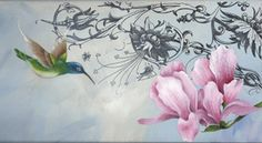 Decorative Paintings, Do Love, Learn To Paint, Hummingbirds, Watercolor Tattoo, Tutorials, Fine Art, Flowers, Projects