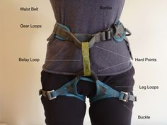 Climbing Harness - How to Choose a Climbing Harness - Seeking Exposure - Seeking Exposure – Rock Climbing – Climbing Harness – Front - Rock Climbing Training, Rock Climbing Workout, Rock Climbing Gear, Sport Climbing, Climbing Rope, Mountain Climbing, Mountain Biking, Rock Climbing Harness, Climbing Holds
