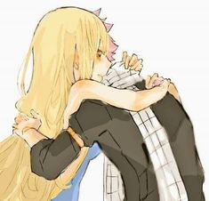 Look at these two adorable lovers! Fairy Tail Lucy, Fairy Tail Nalu, Fairy Tale Anime, Fairy Tail Guild, Fairy Tail Ships, Fairy Tales, Fairytail, Gruvia, Natsu E Lucy