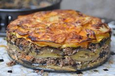 Maltese savoury cake - Maltese food, Maltese recipes, Maltese cuisine. Made with Mediterranean vegetables and mince. Bound together with eggs and cheese. A wonderful dish to try. http://www.amaltesemouthful.com/?p=1955