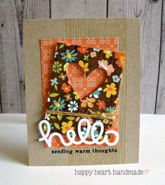 Happy Heart Studio: A Fall-Themed Hello! Lawn Fawn Scripty Hello, Websters Pages paper