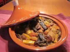 recette TAJINE DE DINDE AUX LEGUMES ET FRUITS SECS Pot Roast, Healthy Recipes, Healthy Food, Beef, Olives, Annie, Ethnic Recipes, Candied Fruit, Meat
