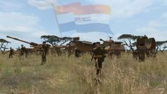 The South African Border War, often referred to by South Africans as the Angolan Bush War, was a conflict that took place from 1966 to 1989, largely in South-West Africa (now Namibia) & Angola. It was fought between South Africa + its allied forces (the National Union for the Total Independence of Angola, UNITA) on the one side, & the Angolan government + South-West Africa People's Organisation (SWAPO) + their allies (Cuba) on the other.