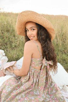 Violet Belle Dress Frankie Straw Hat