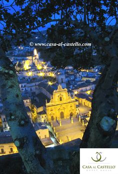 The Church of San Pietro and the Castle of the Counts of Modica, Sicily - ITALY