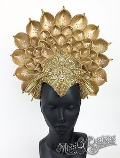 Gold Crown Headdress by MissGDesignsShop on Etsy