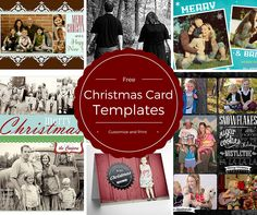 Stand out from the crowd this year by using a free, Christmas card template to create your cards this year.